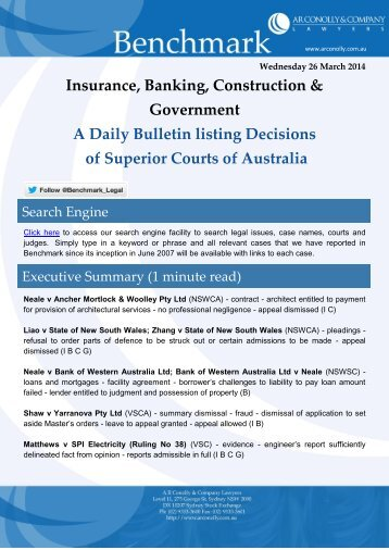 benchmark_26-03-2014_insurance_banking_construction_government