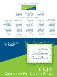 Centennial Installation and Awards Brunch - Essex County Section