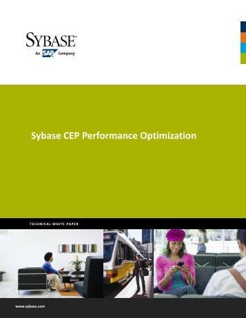 Sybase CEP Performance Optimization