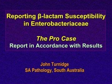 Pro - John Turnidge - eucast