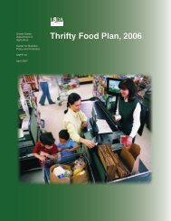 Thrifty Food Plan, 2006 - Center for Nutrition Policy and Promotion ...
