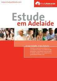 A sua cidade, o seu futuro - Study Adelaide