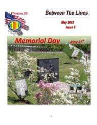 Memorial Day May 27 - Vietnam Veterans of America - Chapter 20