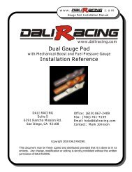 Gauge Pod Install with Boost and Fuel Pressure - Dali Racing