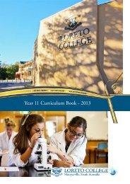Year 11 Curriculum Book - 2013 - Loreto College