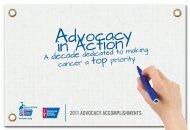 2011 Advocacy Accomplishments - American Cancer Society ...