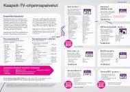 Kaapeli-TV:n ohjelmapalvelut - Sonera