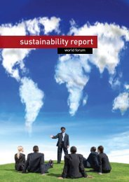 sustainability report - World Forum
