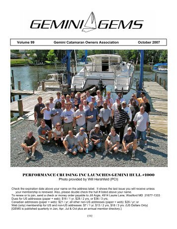 October 2007 - Gemini Gems