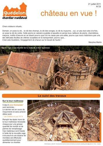 """Château en vue !"" N°23 (PDF - 597 Ko) - Guédelon"