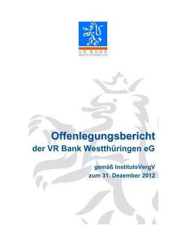 Vr Bank Westtharingen