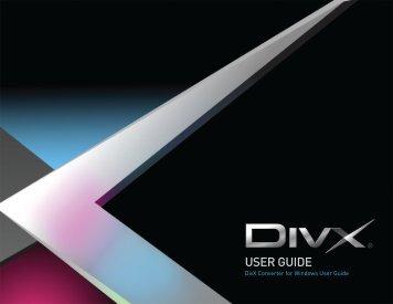 USER GUIDE - DivX