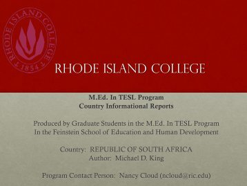 South Africa.pdf - RITELL
