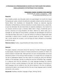 O processo de aprendizagem da escrita do português por surdos