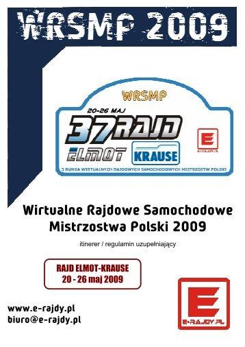 Wirtualne Rajdowe Samochodowe Mistrzostwa ... - E-RAJDY.PL