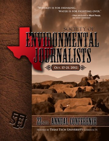 Annual Conference 22ND - Society of Environmental Journalists