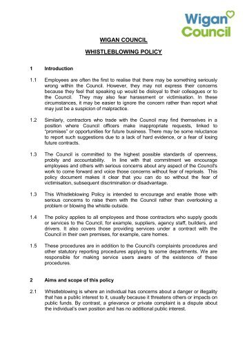 Fantastic Whistleblowing Policy Template Inspiration - Resume Ideas ...