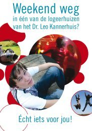 Weekend weg - Dr. Leo Kannerhuis