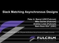 Slack Matching Asynchronous Designs