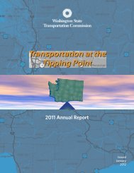2011 Annual Report - Washington State Transportation Commission