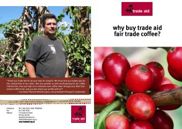 Why buy TA FT coffee Jan 12 version - Trade Aid
