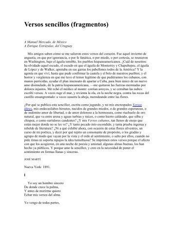 Versos sencillos (fragmentos) - Luis Emilio Recabarren