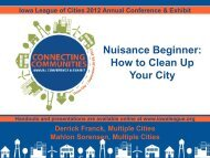 Nuisance Beginner - Iowa League of Cities