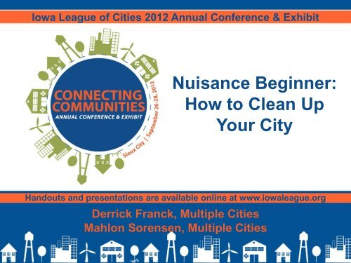 Nuisance Beginner - Iowa League of Cities