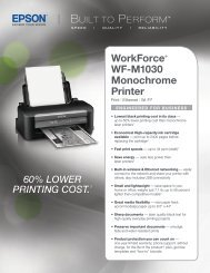 WorkForce® WF-M1030 Monochrome Printer - Epson