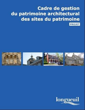 Brochure sur le projet du cadre de gestion - Ville de Longueuil