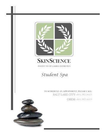 Spa Menu - SkinScience Institute