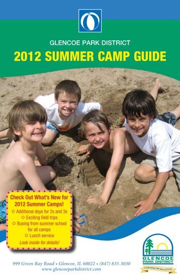 2012 SUMMER CAMP GUIDE - Glencoe Park District