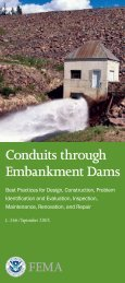 Conduits through Embankment Dams - Association of State Dam ...