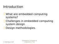 Networking for Embedded Systems