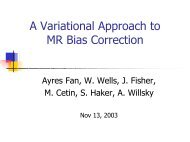 A Variational Approach to MR Bias Correction