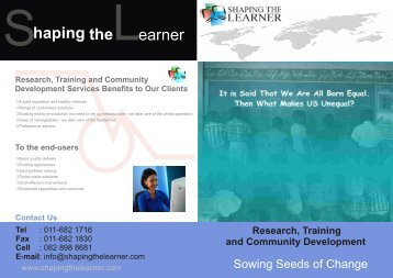 Better Overview of Shaping the Learner