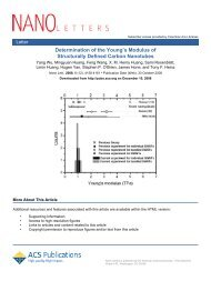 Determination of the Young's Modulus of - James Hone - Columbia ...