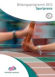 Bildungsprogramm 2012 Sportpraxis - Universität Hamburg