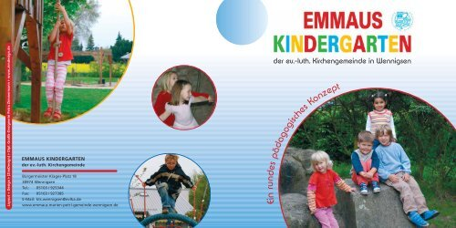 EMMAUS Kindergarten Konzeption 2007 - Kirchenkreis Ronnenberg