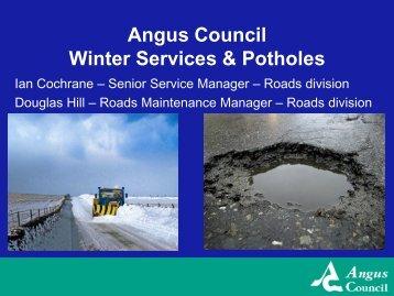 Winter Services & Potholes - Angus Council