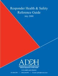 Responder Health & Safety Reference Guide - Alabama Department ...