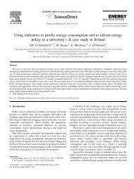 Using indicators to profile energy consumption and to inform energy ...