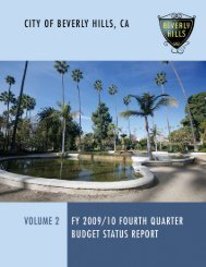 2009-10 4th Quarter Budget Status Report Vol 2 - City Of Beverly Hills