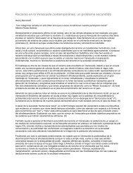 Racismo en la Venezuela contemporánea: un ... - ENcontrARTE