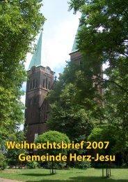 Weihnachtsbrief 2007 Gemeinde Herz-Jesu