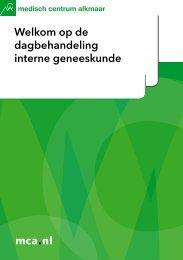 mca.nl Welkom op de dagbehandeling interne geneeskunde