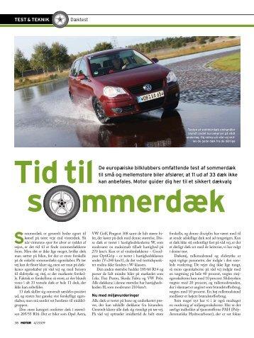 tid tilDe europæiske bilklubbers omfattende test af ... - FDM
