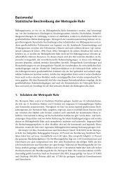Basismodul Statistische Beschreibung der Metropole Ruhr