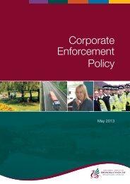 Corporate Enforcement Policy Booklet 2013 - Rhondda Cynon Taf