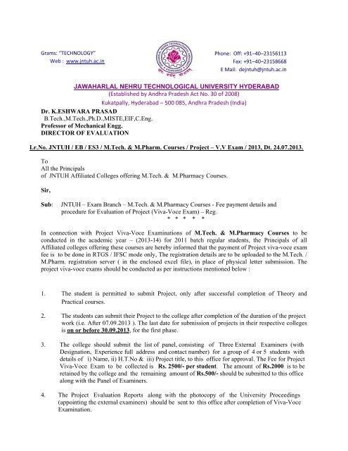 Established by Andhra Pradesh Act No  30 of 2008 - exams